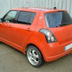 Autófólia - piros Suzuki